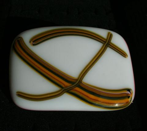 glass belt buckle
