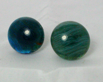 Earrings Blue Green Aggets