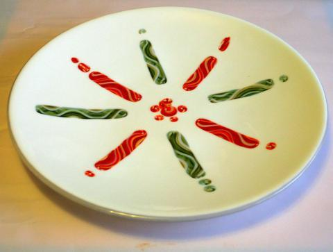 Candy Cane Platter
