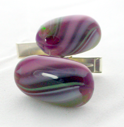 Cuff Links Purple Passion