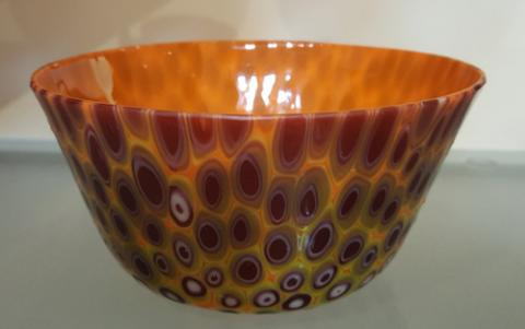 Purple Peacock Bowl