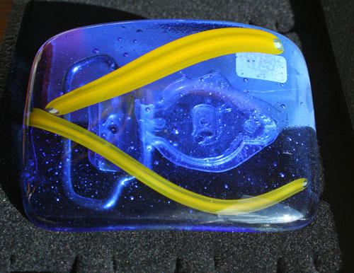 glass belt buckle