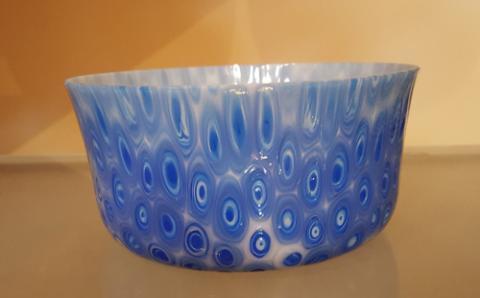 Blue Peacock Flower Pot