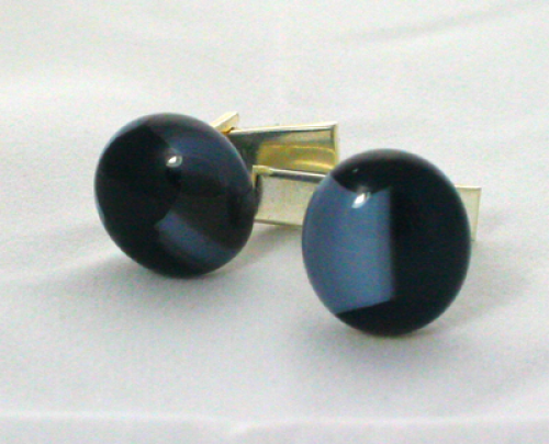 Cuff Links Amber Dot