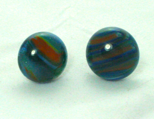 Earrings Blue Aggets