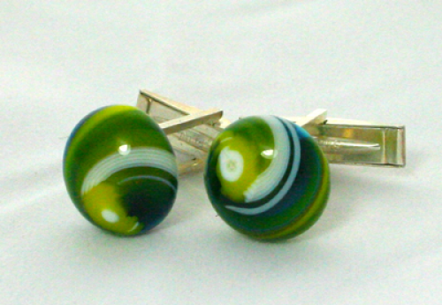 Green Eyes Cuff links